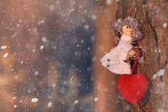 ανασκόπησης κόκκινος s ημέρας χρυσός βαλεντίνος καρδιών Στοκ Εικόνες