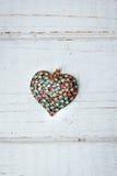 ανασκόπησης κόκκινος s ημέρας χρυσός βαλεντίνος καρδιών Στοκ φωτογραφία με δικαίωμα ελεύθερης χρήσης