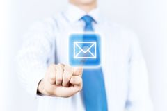 ανασκόπησης μαύρο κείμενο τρία αντανάκλασης ηλεκτρονικού ταχυδρομείου έννοιας διαστατικό Στοκ φωτογραφίες με δικαίωμα ελεύθερης χρήσης