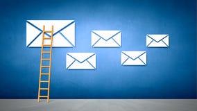 ανασκόπησης μαύρο κείμενο τρία αντανάκλασης ηλεκτρονικού ταχυδρομείου έννοιας διαστατικό Στοκ φωτογραφία με δικαίωμα ελεύθερης χρήσης