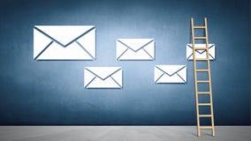 ανασκόπησης μαύρο κείμενο τρία αντανάκλασης ηλεκτρονικού ταχυδρομείου έννοιας διαστατικό Στοκ εικόνες με δικαίωμα ελεύθερης χρήσης