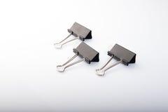 ανασκόπησης μαύρο συνδετήρων λευκό στούντιο πλαισίων απομονωμένο σύνολο καλυμμένο έγγραφο Στοκ Φωτογραφία