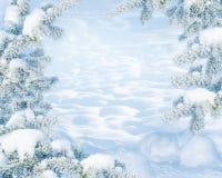 ανασκόπησης μπλε Χριστουγέννων σύννεφων οριζόντιος χαμηλότερος λόφων κλίσης νιφάδων χρωμάτων καλυμμένος σύνθεση οι πλούσιοι χαρτο απεικόνιση αποθεμάτων