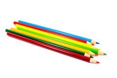 ανασκόπησης ρηχό λευκό μολυβιών χρωματισμένου βάθους απομονωμένο πεδίο πίσω σχολείο χαρτικά Σχέδιο Στοκ Εικόνα