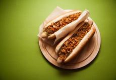 ανασκόπησης σκυλιών γρήγορου φαγητού καυτός τρύγος εγγράφου ετικετών παλαιός Στοκ φωτογραφίες με δικαίωμα ελεύθερης χρήσης