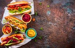 ανασκόπησης σκυλιών γρήγορου φαγητού καυτός τρύγος εγγράφου ετικετών παλαιός Στοκ φωτογραφία με δικαίωμα ελεύθερης χρήσης