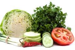 ανασκόπησης στενό λευκό λαχανικών εστίασης φρέσκο εκλεκτικό επάνω Στοκ Φωτογραφίες