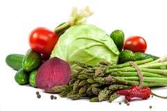 ανασκόπησης στενό λευκό λαχανικών εστίασης φρέσκο εκλεκτικό επάνω Στοκ Εικόνες