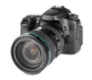 ανασκόπησης φωτογραφικών μηχανών λευκό μονοπατιών ψαλιδίσματος dslr απομονωμένο