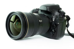 ανασκόπησης φωτογραφικών μηχανών λευκό μονοπατιών ψαλιδίσματος dslr απομονωμένο Στοκ φωτογραφία με δικαίωμα ελεύθερης χρήσης