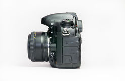 ανασκόπησης φωτογραφικών μηχανών λευκό μονοπατιών ψαλιδίσματος dslr απομονωμένο Στοκ Φωτογραφία