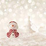 ανασκόπησης Χριστουγέννων hoiday σύσταση χιονανθρώπων προτύπων άνευ ραφής Στοκ Εικόνα