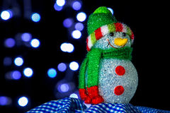 ανασκόπησης Χριστουγέννων hoiday σύσταση χιονανθρώπων προτύπων άνευ ραφής στοκ φωτογραφία