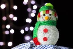 ανασκόπησης Χριστουγέννων hoiday σύσταση χιονανθρώπων προτύπων άνευ ραφής στοκ φωτογραφία με δικαίωμα ελεύθερης χρήσης