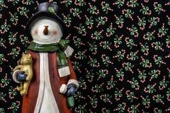 ανασκόπησης Χριστουγέννων hoiday σύσταση χιονανθρώπων προτύπων άνευ ραφής Στοκ εικόνα με δικαίωμα ελεύθερης χρήσης