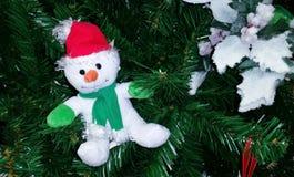 ανασκόπησης Χριστουγέννων hoiday σύσταση χιονανθρώπων προτύπων άνευ ραφής Στοκ Εικόνες