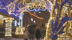 ανασκόπησης όμορφος εκλεκτικός επάνω εστίασης διακοσμήσεων Χριστουγέννων στενός E r ατμόσφαιρα εορταστική απόθεμα βίντεο