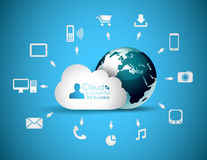Ανασκόπηση έννοιας υπολογισμού σύννεφων Στοκ Εικόνες