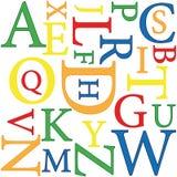 ανασκόπηση αλφάβητου Στοκ φωτογραφίες με δικαίωμα ελεύθερης χρήσης