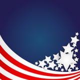 Ανασκόπηση αμερικανικών σημαιών Στοκ φωτογραφίες με δικαίωμα ελεύθερης χρήσης