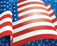 Ανασκόπηση αμερικανικών σημαιών Στοκ Εικόνες