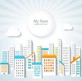ανασκόπηση αστική Πόλης πανόραμα διανυσματική απεικόνιση