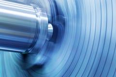 ανασκόπηση βιομηχανική Διάτρυση, τρυπώντας μηχανή στην εργασία Στοκ Εικόνες