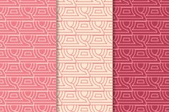 ανασκόπηση γεωμετρική abstract seamless wallpaper Κόκκινο σύνολο κερασιών Στοκ Εικόνα