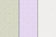 ανασκόπηση γεωμετρική abstract seamless wallpaper Χρωματισμένο σύνολο Στοκ φωτογραφίες με δικαίωμα ελεύθερης χρήσης