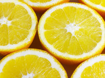 Ανασκόπηση διατομής πορτοκαλιών Στοκ εικόνα με δικαίωμα ελεύθερης χρήσης