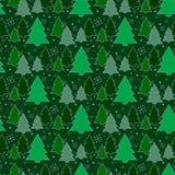 ανασκόπηση εορταστική πρότυπο άνευ ραφής Δέντρο Η πράσινη ανασκόπηση νέο έτος Χριστουγέννων Σύσταση για τον Ιστό, τυπωμένη ύλη, Στοκ Εικόνα
