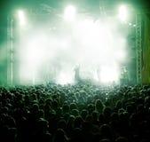 Ανασκόπηση ζωντανής μουσικής Στοκ Φωτογραφία