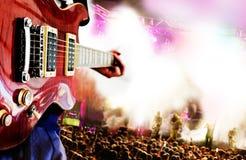 Ανασκόπηση ζωντανής μουσικής Στοκ Εικόνα