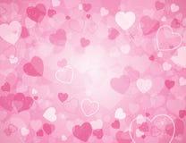 Ανασκόπηση ημέρας βαλεντίνου με τις καρδιές ελεύθερη απεικόνιση δικαιώματος