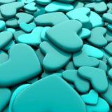 Ανασκόπηση ημέρας βαλεντίνων ` s Μπλε καρδιές ομάδας Στοκ εικόνα με δικαίωμα ελεύθερης χρήσης