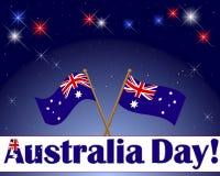 Ανασκόπηση ημέρας της Αυστραλίας. Στοκ Εικόνες