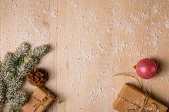 Ανασκόπηση διακοσμήσεων Χριστουγέννων Στοκ εικόνα με δικαίωμα ελεύθερης χρήσης
