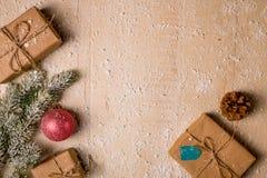 Ανασκόπηση διακοσμήσεων Χριστουγέννων Στοκ φωτογραφία με δικαίωμα ελεύθερης χρήσης