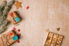 Ανασκόπηση διακοσμήσεων Χριστουγέννων Στοκ Φωτογραφίες