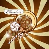 Ανασκόπηση και καραμέλα σοκολάτας Στοκ εικόνα με δικαίωμα ελεύθερης χρήσης