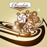 Ανασκόπηση και καραμέλα σοκολάτας Στοκ Φωτογραφία