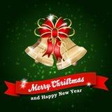 Ανασκόπηση Καλών Χριστουγέννων και καλής χρονιάς απεικόνιση αποθεμάτων