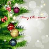 Ανασκόπηση Καλών Χριστουγέννων Στοκ Εικόνα