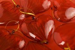 Ανασκόπηση καρδιών βαλεντίνου Στοκ Εικόνες