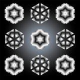 Ανασκόπηση, μαύρος-άσπρο πρότυπο Στοκ Εικόνες