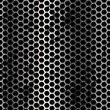 Ανασκόπηση μετάλλων Grunge Διανυσματικό γεωμετρικό σχέδιο hexagons Στοκ Φωτογραφία