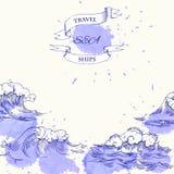 Ανασκόπηση με τα κύματα Στοκ φωτογραφία με δικαίωμα ελεύθερης χρήσης