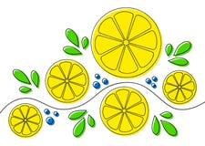Ανασκόπηση με τα λεμόνια Στοκ Φωτογραφίες