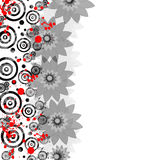 Ανασκόπηση με τα λουλούδια Στοκ Εικόνες