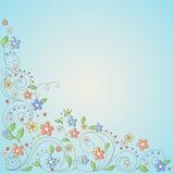Ανασκόπηση με τα λουλούδια διανυσματική απεικόνιση